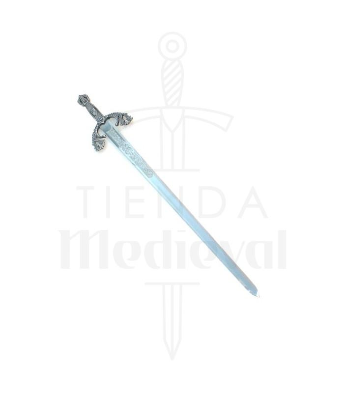 Espada Tizona Cid, acabado plateado