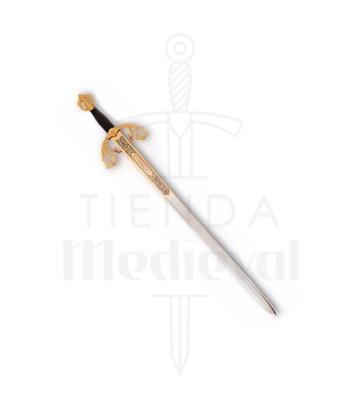 Espada Tizona Cid, acabado dorado