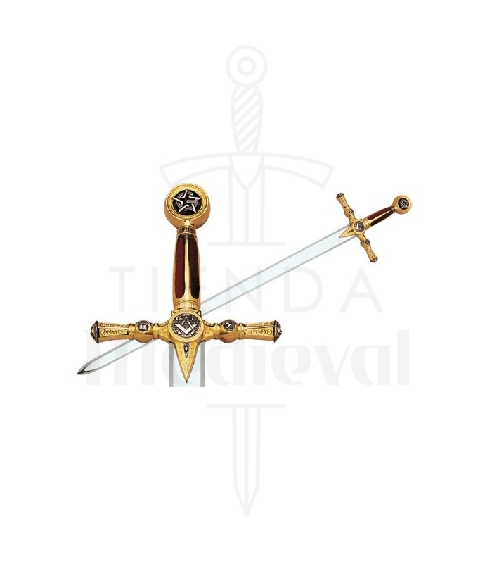 Espada de los masones en Oro