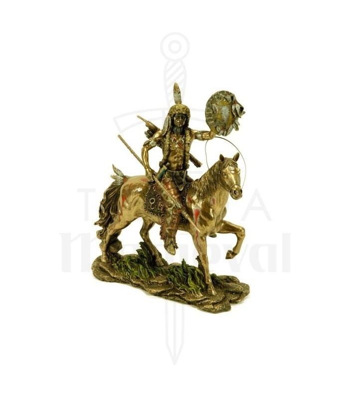 Figura Indio Cheyenne a caballo