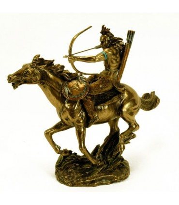 Figura indio a caballo con arco