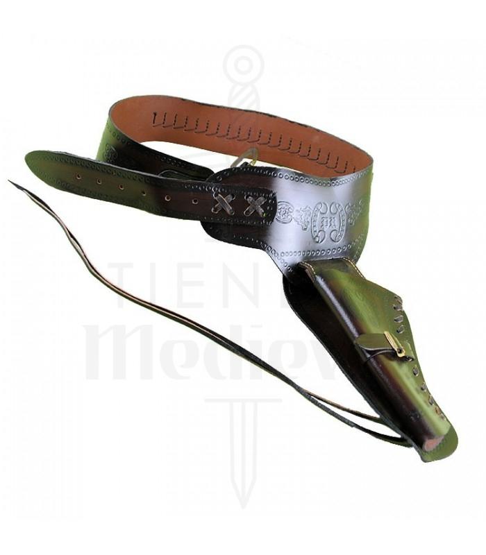 Canana piel 1 revólver (para zurdos)