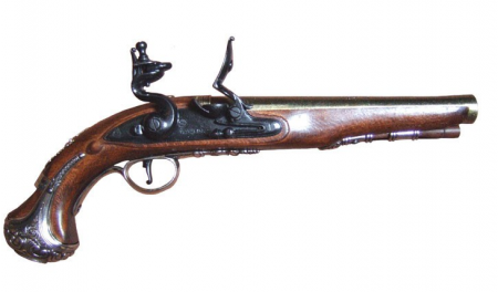 RÉPLICA DECORATIVA PISTOLA INGLESA DEL GENERAL WASHINGTON, SIGLO XVIII