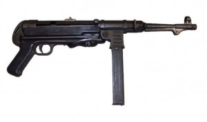 Réplica Ametralladora MP40, cal. 9mm, Alemania 1940