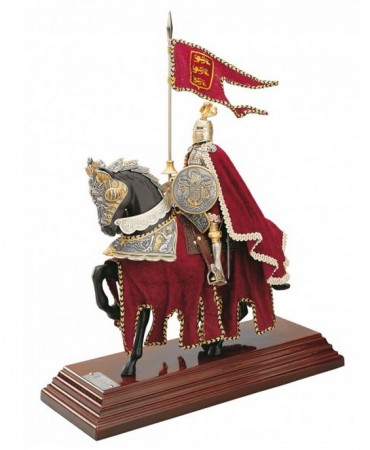 Riding Knight in a red cloak handcrafted miniature