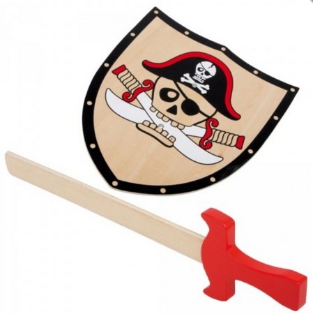 Set of pirate shield and sword