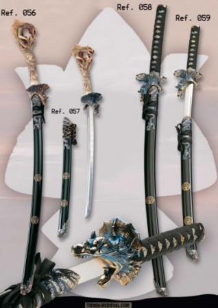 katana decorativa rodela dragon 318x450 - Katanas Decorativas