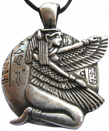 Egyptian Winged Isis pendant