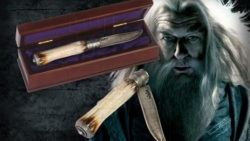 Cuchillo de Dumbledore Harry Potter 250x141 - Marcapáginas con motivos de Harry Potter