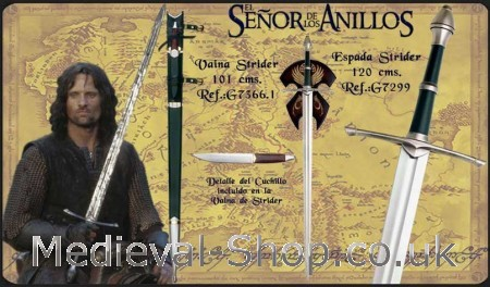 Strider sword.- The lord of the rings swords