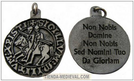 Templar Knight pendant