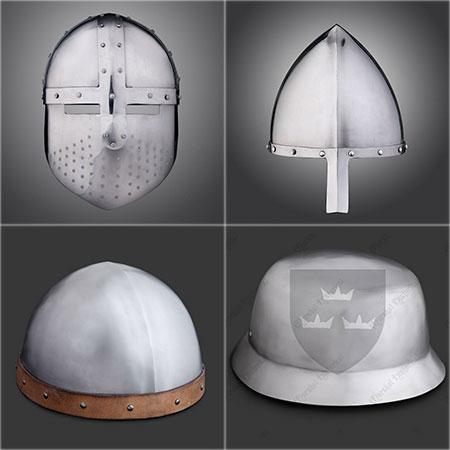 Modèles de cabassets Types de casques médiévaux