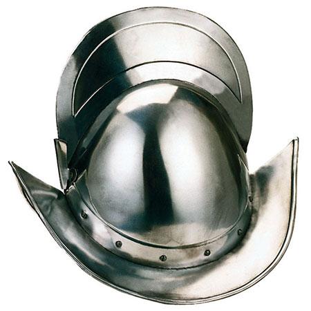Morion médiéval espagnol Types de casques médiévaux