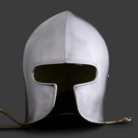 Barbute médiévale Types de casques médiévaux