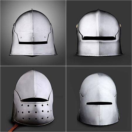 Cervelière médiévale Types de casques médiévaux