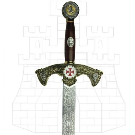 épée-des Templiers-décorée