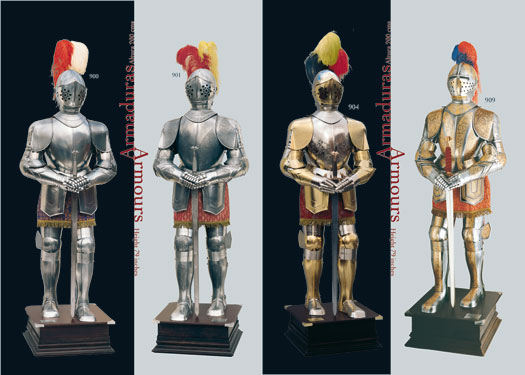 Completa colección de armaduras medievales fabricadas en Toledo (España)