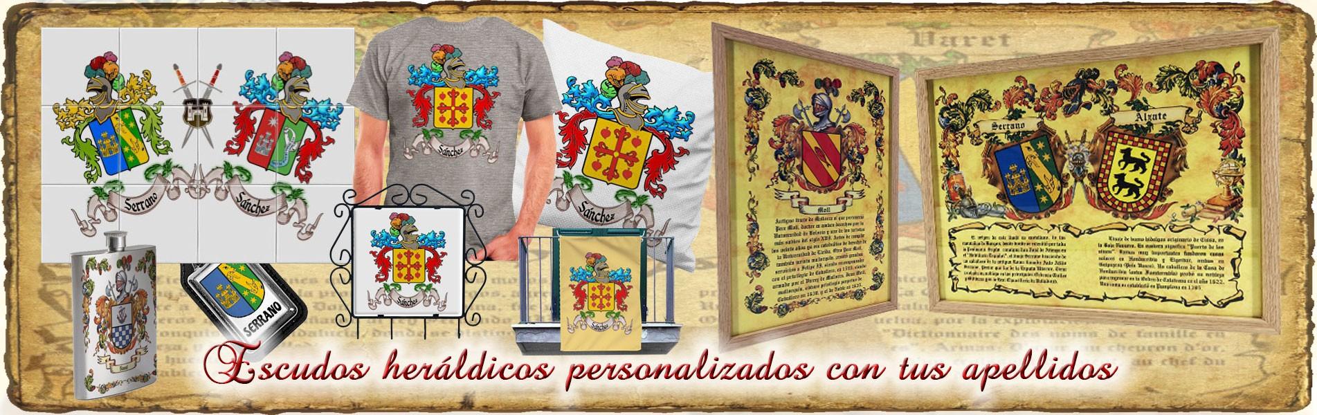 Escudos Heráldicos personalizados con tus apellidos